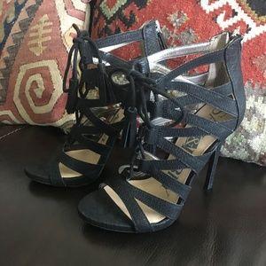 Serious Heels! Make a statement! Black Size 7.5